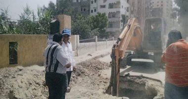 صور .. ترميم ثقب بكوبري ك 33  فى كفر الشيخ