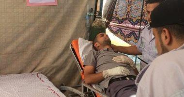صور.. 134 مصابا فلسطينيا بغاز الاحتلال الإسرائيلى على حدود غزة