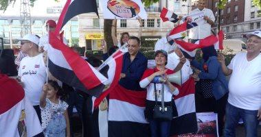 الجالية المصرية بلندن تحتفل بثورة ٣٠ يونيو