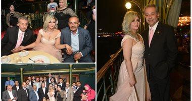 حفل زفاف الإعلامى توفيق عكاشة على المذيعة حياة الدرديرى بحضور الأهل والأقارب