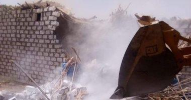 إزالة تعديات على أراضٍ تابعة لهيئة الأوقاف شرق الإسكندرية