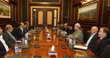 مسعود بارزانى يستقبل الوفد المشترك لتحالف الفتح وائتلاف دولة القانون