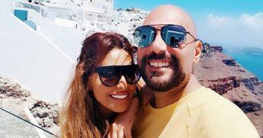 مى سليم و وليد فواز يقضيان شهر العسل فى سانتورينى باليونان