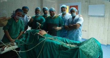 إجراء عملية إصلاح فتق إربى أيمن بالمنظار ﻷول مرة بمستشفى طور سيناء