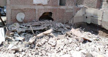 انهيار جزئى بمنزل من 3 طوابق فى حلوان دون إصابات بشرية