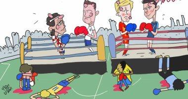 كاريكاتير.. منتخبات نصف نهائى كأس العالم تستعد لمعارك جديدة