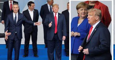 صور.. رئيسة كرواتيا تهدى ترامب وتيريزا ماى قميص منتخب بلادها ويحملان اسمهما