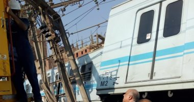المترو عن صورة جرار السكة الحديد بمحطة المرج: لرفع العربات الخارجة عن القضبان