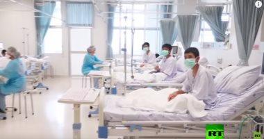 شاهد.. أول فيديو لأطفال الكهف أثناء تلقيهم العلاج بمستشفى فى تايلاند