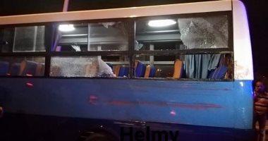 إصابة 5 أشخاص فى تصادم أتوبيس وسيارة نقل بالعين السخنة