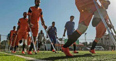 فريق مبتورى الساق لكرة القدم فى غزة يتحدى إسرائيل ويطلق أول تمارينه