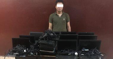 فرد أمن خاص وراء سرقة 19جهاز لاب توب من شركة اتصالات بالقرية الذكية