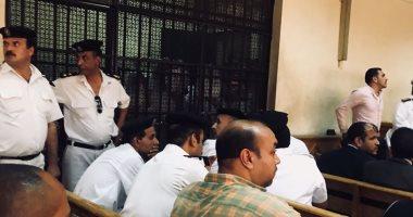 صور.. وصول 41 متهمًا بالاتجار فى الأعضاء البشرية لجلسة النطق بالحكم