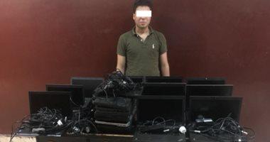 فيديو.. تفاصيل ضبط مرتكب واقعة سرقة 19 جهاز لاب توب من شركة للاتصالات