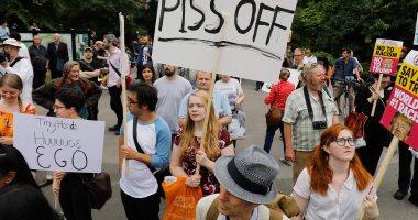 صور.. احتجاجات فى لندن ضد زيارة ترامب إلى بريطانيا