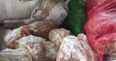 صور.. ضبط 300 كيلو لحوم منتهية الصلاحية بحملة على مطاعم كفر شكر