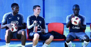 تفاؤل في تدريبات فرنسا قبل مواجهة كرواتيا في نهائي كأس العالم