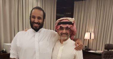 الوليد بن طلال يلتقى الأمير محمد بن سلمان: تشرفت بالاجتماع مع أخى سمو ولى العهد