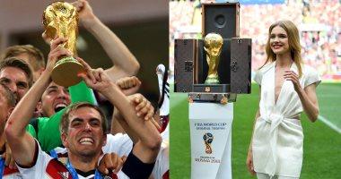 كأس العالم 2018.. فيليب لام وناتاليا فوديانوفا يرافقان الكأس فى النهائى