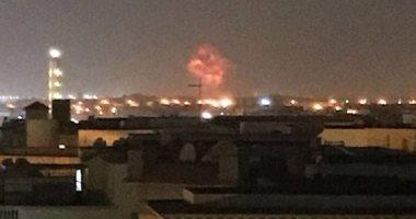 القوات المسلحةً تدفع بسيارات إطفاء للسيطرة على حريق شركة هليوبليس