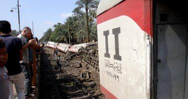 مصادر بالسكة الحديد: سائق قطار المرازيق لم يصاب وأكد أن الحادث ليس خطأه