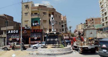 صور.. تدشين تمثال الشهيد أحمد منسى بميدان مكى فى منيا القمح