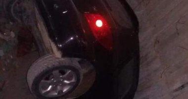 مصرع وإصابة 3 أشخاص فى انقلاب سيارة أعلى طريق صحراوى الصف