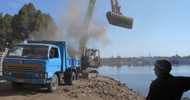 """""""الرى"""" تشن حملة لإزالة تعديات على النيل فى المنوفية"""