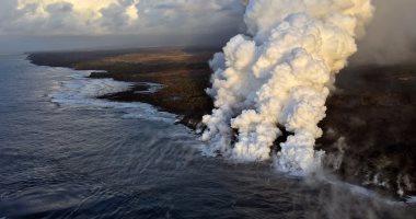 سقوط حمم بركانية