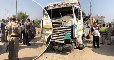 القبض على سائق السيارة المتهم فى واقعة حادث طريق المنيا