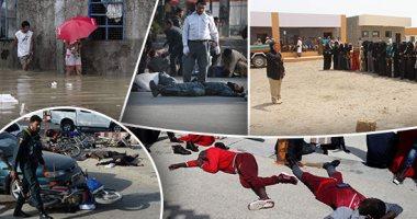 صور.. العالم هذا الصباح.. مقتل 14 شخصا فى تفجير انتحارى بمحيط مطار كابول.. الفيضانات تجبر الفلبينين للهرب إلى الملاجئ.. وصول عشرات المهاجرين إلى ميناء طريفة الإسبانى.. الإمارات توعى السكان بمخاطر الألغام باليمن