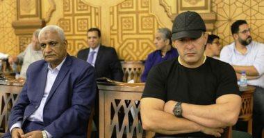 هشام زعزوع ومصطفى بكرى وأحمد السقا وكريم شحاتة فى عزاء سيف العمارى (تحديث)