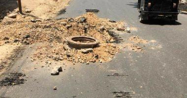 استجابة لليوم السابع.. متابعة أعمال الرصف والتبليط في شارع العشرين بفيصل