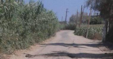 شكوى من تهالك الطريق بقرية الشين فى الغربية