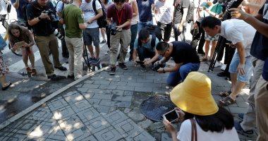 أول صور لانفجار بمحيط سفارة واشنطن فى بكين