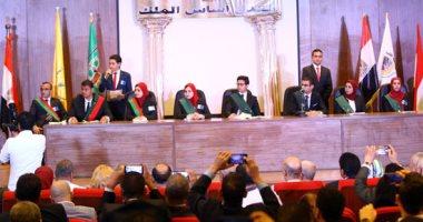 """صور.. انطلاق مؤتمر """"مواجهة الإرهاب بين الفكر والقانون"""" لطلاب """"حقوق المنيا"""""""