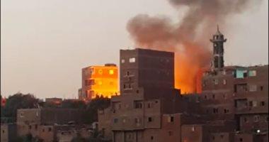 إصابة شخصين باختناق فى حريق شقة سكنية بالعاشر من رمضان