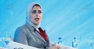 وزيرة الصحة تتفقد وحدة صحة بور فؤاد 2 فى بورسعيد