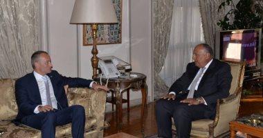 """ملادينوف لـ""""سامح شكرى"""": الأمم المتحدة تدعم جهود مصر لإنجاز المصالحة الفلسطينية"""