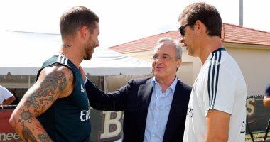 "رئيس ريال مدريد يزور معسكر الملكى فى ""ميامى""..صور"