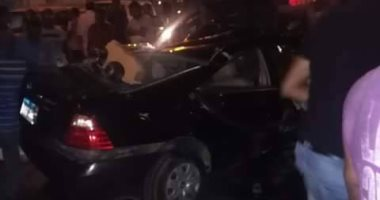 الدفع بـ15 سيارة إسعاف لنقل المتوفين والمصابين فى حادث تصادم الدائرى الإقليمى