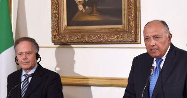 دعم الاستثمار ومواجهة الهجرة غير الشرعية فى لقاء سامح شكرى ووزير خارجية إيطاليا