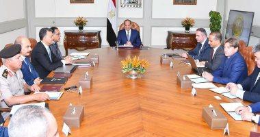 الرئيس السيسي يبحث مع وفد روسى تطوير التعاون فى مجال السكة الحديد