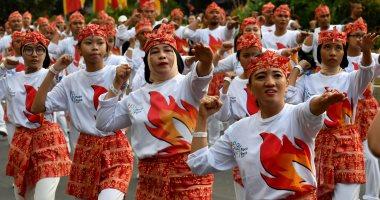 الآلاف يرقصون فى شوارع جاكرتا احتفالا بدورة الألعاب الآسيوية