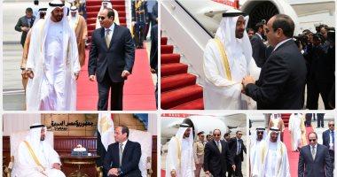 الرئيس السيسى يستقبل محمد بن زايد بمطار القاهرة