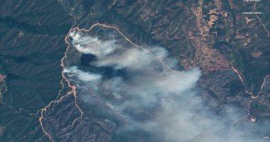 رواد الفضاء يلتقطون صورا لحرائق الغابات فى كاليفورنيا