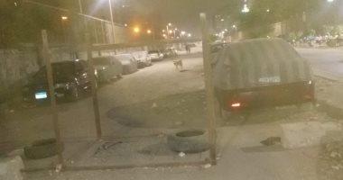 شكوى من حوادث السير بسبب غلق شارع فى حى المطرية