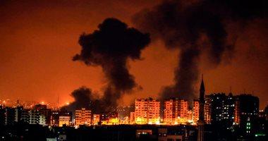 صور.. الاحتلال الإسرائيلى يقصف نقطة رصد للمقاومة الفلسطينية شرقى قطاع غزة