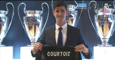 كورتوا يوقع عقود انتقاله إلى ريال مدريد.. فيديو وصور