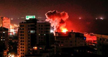 صور.. شهيد و 6 مصابين فى قصف للاحتلال الإسرائيلى على غزة
